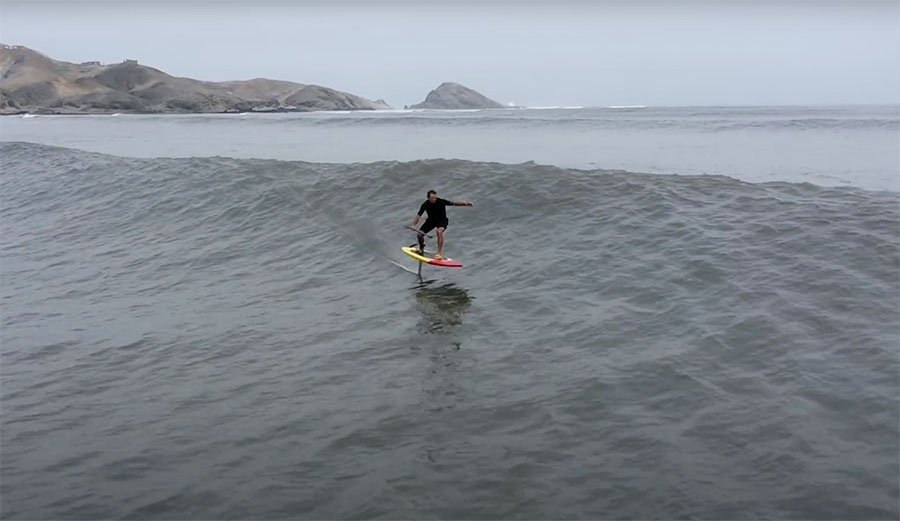 Laird Hamilton Foil Surfs a Chicama Leg Burner for 3 Minutes Straight