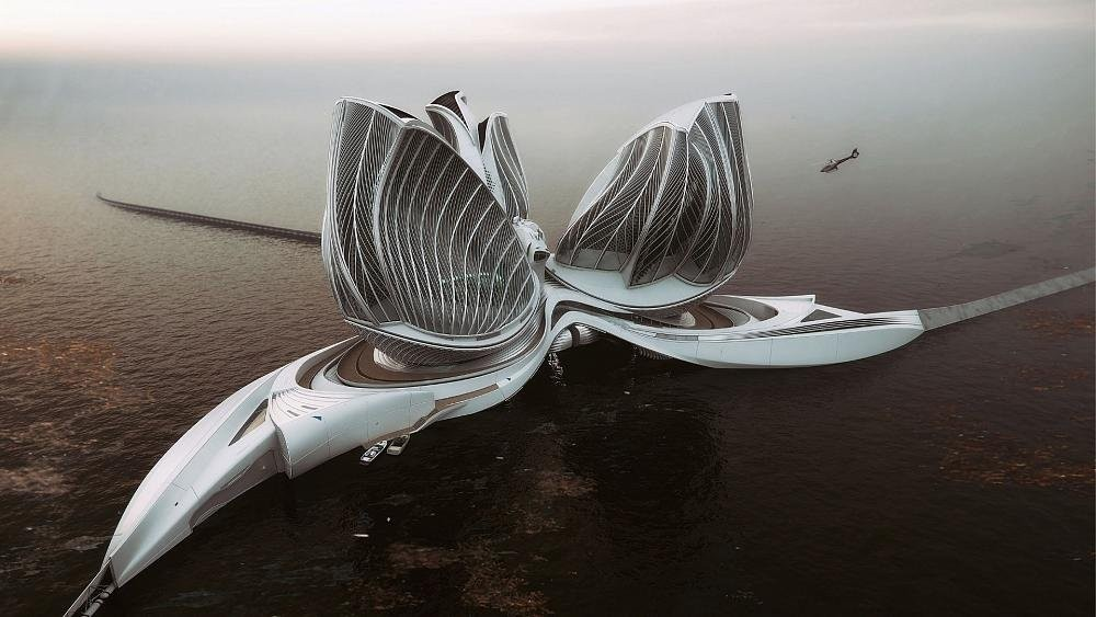 This 'floating continent' could collect and recycle plastic from the ocean in future
