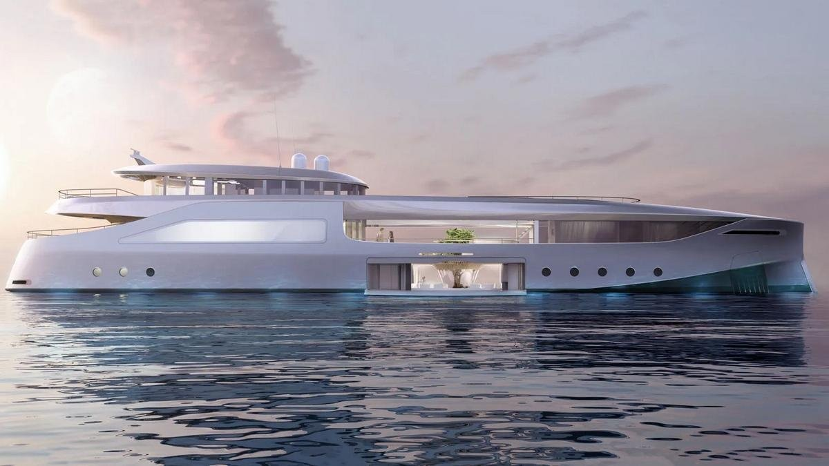 If Tony Stark would ever get a luxury yacht it would be this futuristic 165 feet long zero-emission vessel that comes complete with a three-story vertical garden